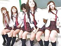 Gangbang College Classroom Asian Schoolgirl Japanese Group Sex