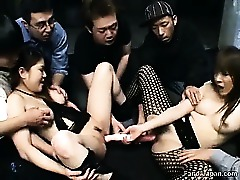 Asian Group Sex Hairy Lesbians
