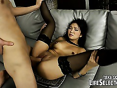 Stockings Skinny Pornstar HD Hardcore Brunette Ass Asian Anal