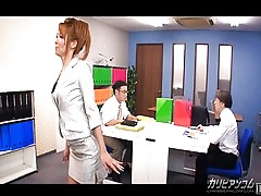 Asian Anal Ass Threesome Blowjob Oral Office Creampie Cum