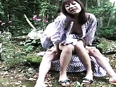 Outdoor Japanese Fingering Blowjob Asian
