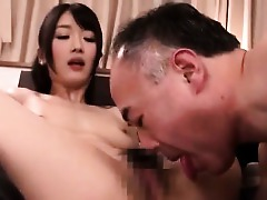 Asian Cute Hairy Japanese Old and Young Blowjob