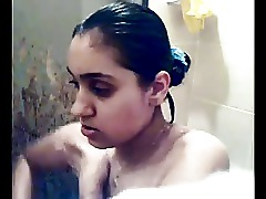 Shower Indian Girlfriend Cute Bathroom Babe Asian