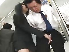 Handjob Bus Asian